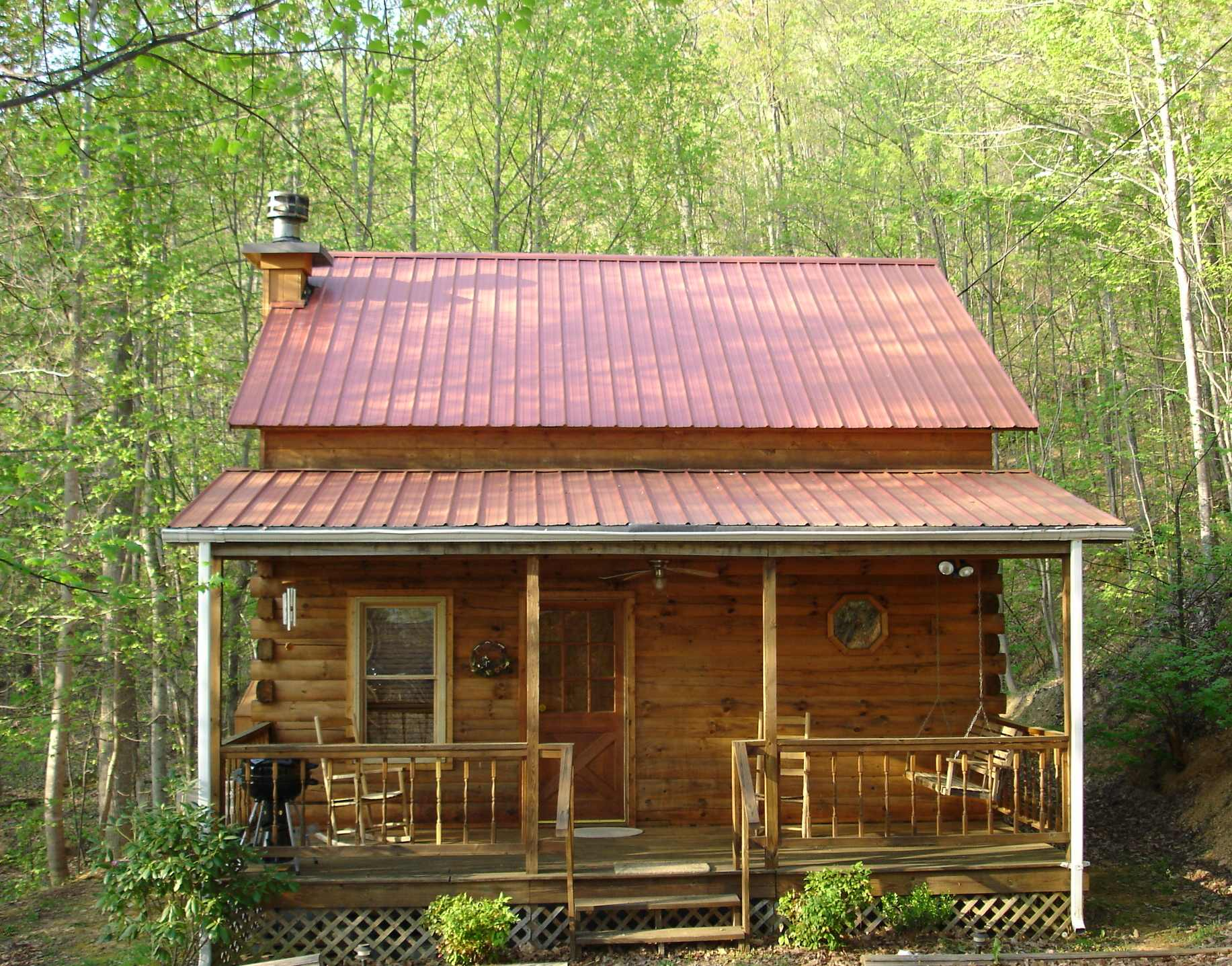 Cabin home log home lake house on pinterest log for Cabin house plans